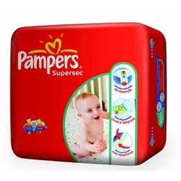 FRALDA PAMPERS SUPER SEC. M 9UN